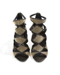 Roger Vivier \n Black Leather Sandals