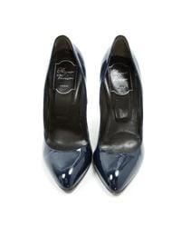 Roger Vivier Blue Patent Leather Heels