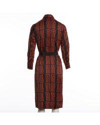 Robe en Soie Multicolore Lanvin