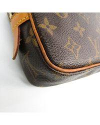 Louis Vuitton Brown Marly Leinen Cross Body Tashe