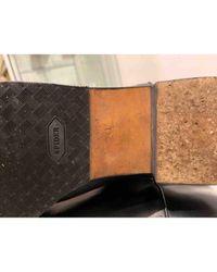 Chanel Black Leder Stiefel