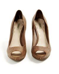 Miu Miu \n Brown Leather Heels