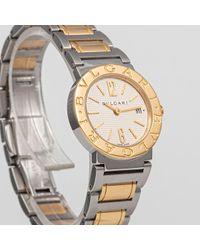 Reloj en oro y acero amarillo BVLGARI de color Yellow
