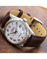 Orologio in acciaio bianco Datejust 36mm di Rolex in White da Uomo