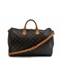 Louis Vuitton Brown Speedy Bandoulière Leinen Handtaschen