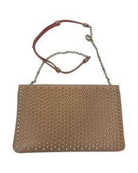 Christian Louboutin - Natural Pre-owned Leather Crossbody Bag - Lyst