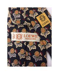 Loewe Black \n Multicolour Silk Tie for men