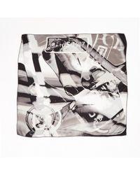 Dior - Gray Silk Scarf - Lyst