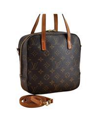 Louis Vuitton Brown Spontini Leinen Cross Body Tashe