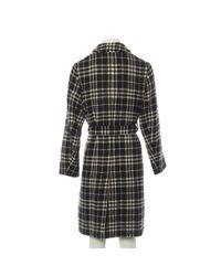 Manteau en laine Burberry en coloris Black