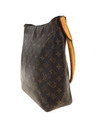 Louis Vuitton Brown Looping Leinen Handtaschen