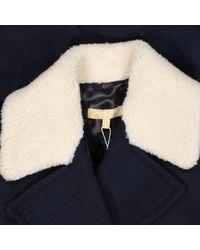 Michael Kors Blue Wolle kurzmäntel