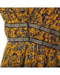 Abiti in seta giallo di Étoile Isabel Marant in Yellow