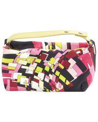 Emilio Pucci \n Pink Cloth Clutch Bag