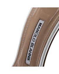 Sandales en Cuir Blanc Manolo Blahnik en coloris Multicolor