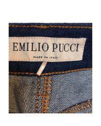 Pantalons \N en Denim Marine Emilio Pucci en coloris Blue
