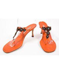 Sandales Manolo Blahnik en coloris Orange