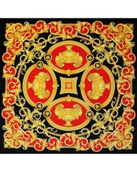 Versace Multicolor Samt Heimtextilien