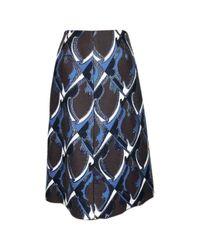 Jupe en Laine Marron Louis Vuitton en coloris Brown