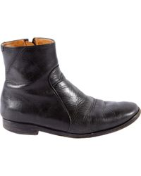Boots en cuir Maison Margiela pour homme en coloris Black