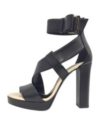 Sandales en cuir Lanvin en coloris Black