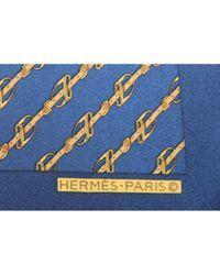 Hermès Seide Krawatten in Blue für Herren