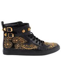 Versace Black Leder Sneakers