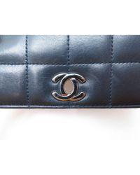 Borsa a mano in pelle blu \N di Chanel in Blue
