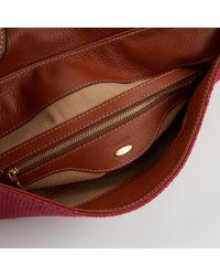 Sergio Rossi Red Leinen Handtaschen