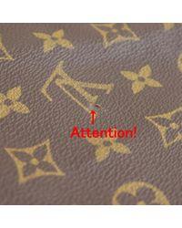 Borsa da viaggio in tela marrone di Louis Vuitton in Brown