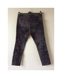 Jeans in cotone - elastan nero di Zadig & Voltaire in Black