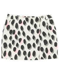 Diane von Furstenberg Gray Grey Polyester Skirt