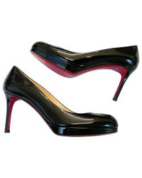 Christian Louboutin - Black Pre-owned Simple Pump Patent Leather Heels - Lyst