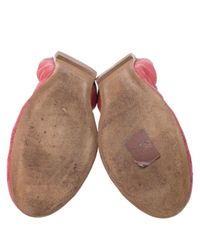Louis Vuitton Red Leder Ballerinas
