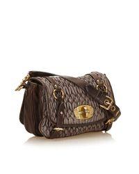 Miu Miu Brown Pre-owned Matelassé Leather Handbag