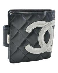 Chanel Black Leder Portemonnaies