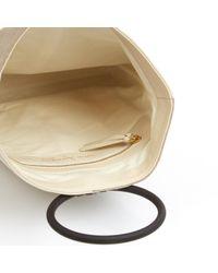 Bolsa de mano en cuero beige \N Carolina Santo Domingo de color Natural