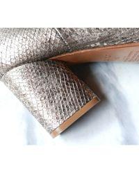 Maison Margiela Metallic Leder Stiefeletten