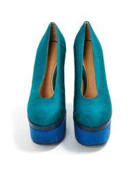 Acne Green Cloth Heels