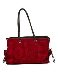 Loewe Red Suede Handbag