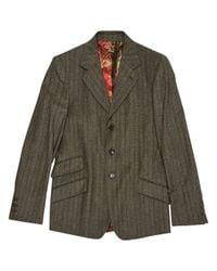 Roberto Cavalli Gray Grey Wool Jacket for men