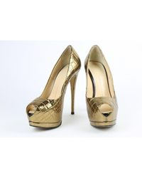 Giuseppe Zanotti Metallic Pre-owned Patent Leather Heels