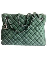 Chanel Green Grand Shopping Shopper