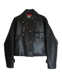 Acne Black Pre-owned Leather Biker Jacket for men