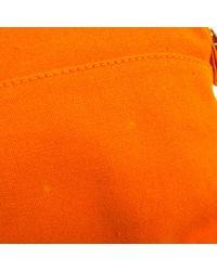 Hermès Orange Bolide Leinen Vanity