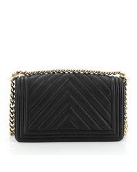 Chanel Black Boy Leder Handtaschen