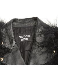 Vest \N en Cuir Noir Moschino en coloris Multicolor