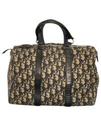 Dior Blue Navy Cloth Handbag