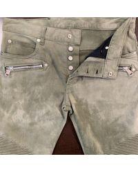 Balmain Slim Jeans in Green für Herren