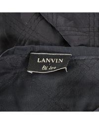 Top in poliestere antracite di Lanvin in Gray